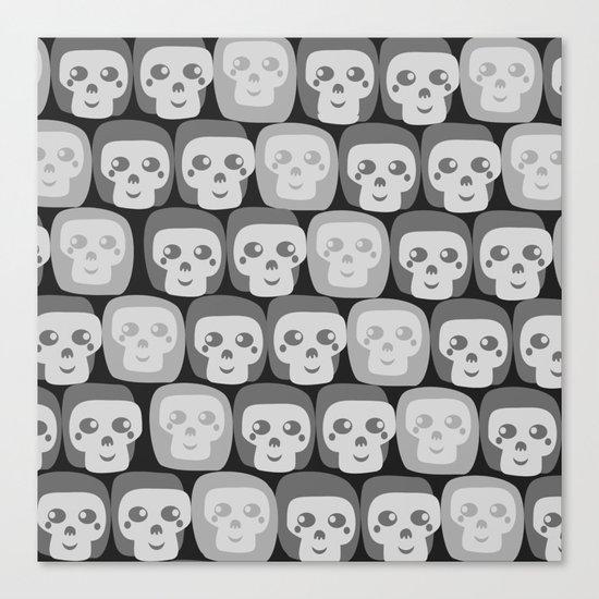 Boo - Skulls Pattern Canvas Print