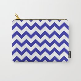 Chevron (Navy & White Pattern) Carry-All Pouch