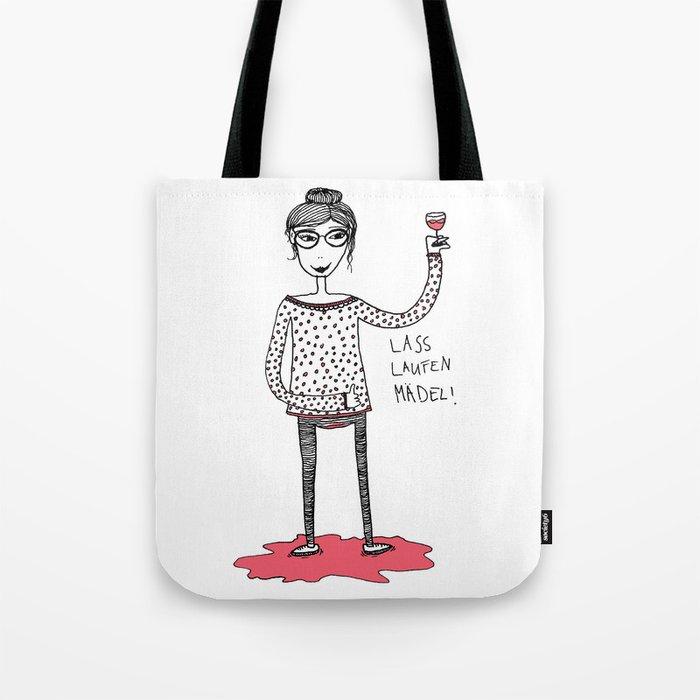 Let it flow girl Tote Bag