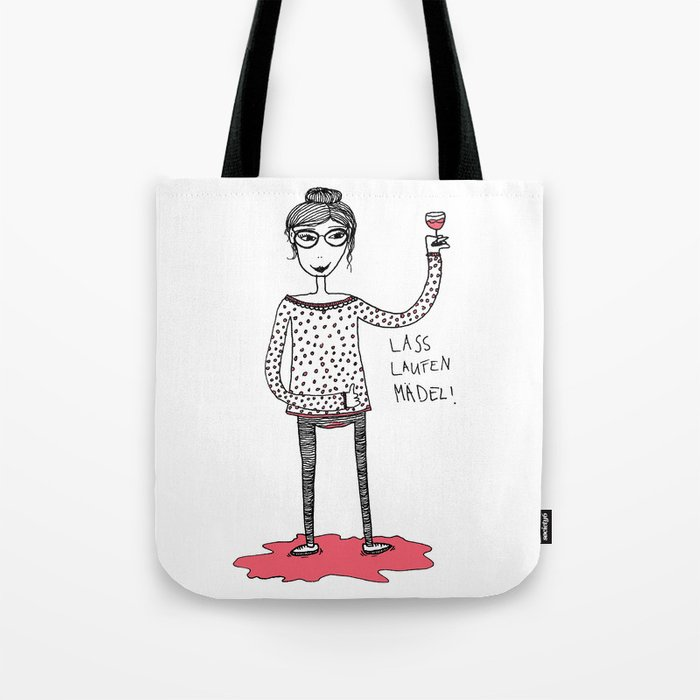 Let it flow girl Tote Bag