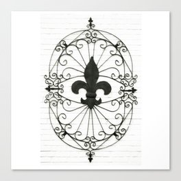 Wrought Iron Fleur de Lis Canvas Print