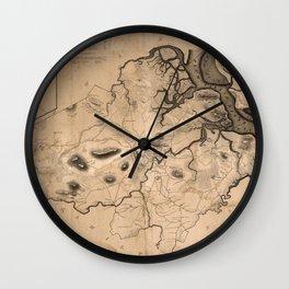 Map of Ipswich 1832 Wall Clock