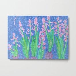 Hyacinths, Spring Flowers, Decorative Floral Metal Print