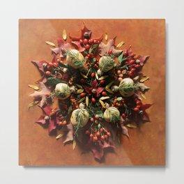Nature Mandala: October II Metal Print
