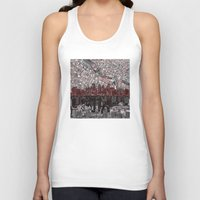 minneapolis Tank Tops featuring minneapolis city skyline by Bekim ART