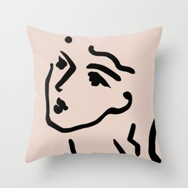 Lady Face Throw Pillow