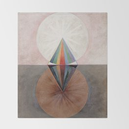 Hilma af Klint Group IX/SUW The Swan No. 12 Throw Blanket
