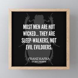 40   |  Franz Kafka Quotes | 190517 Framed Mini Art Print