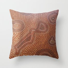 Woman in Universe of Choices Throw Pillow