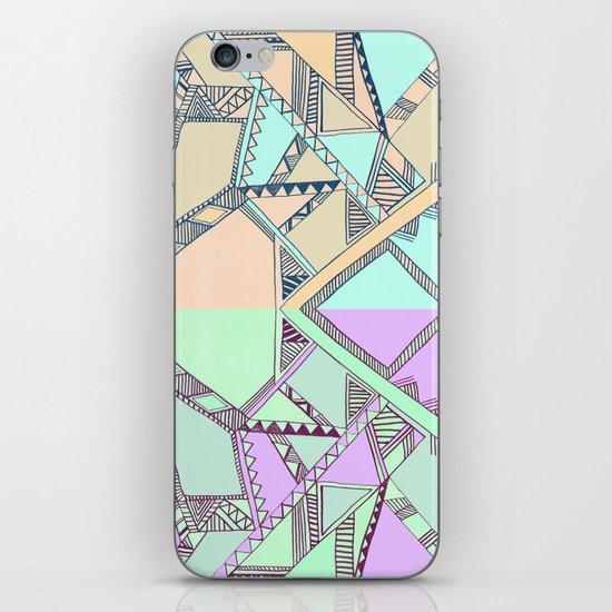 Aztec print illustration iPhone & iPod Skin