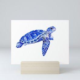 Sea Turtle, sea world animals, animal art, children art Mini Art Print