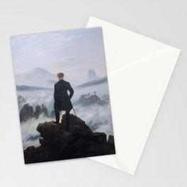 The wanderer above the sea of fog by Caspar David Friedrich Stationery Cards