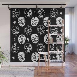 Máscaras (Black & White) Wall Mural