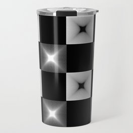 Black And White Illusion Pattern Travel Mug