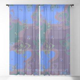 October colors Sheer Curtain