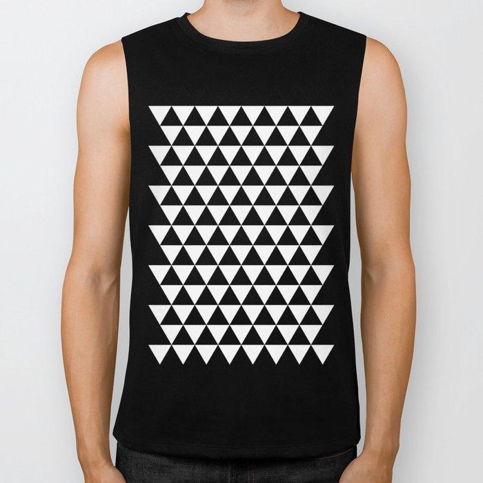 Triangles (Black/White) Biker Tank