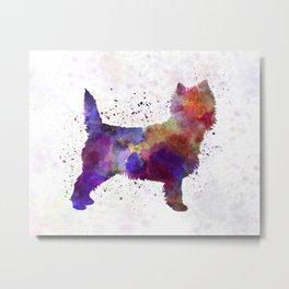 Cairn Terrier in watercolor Metal Print