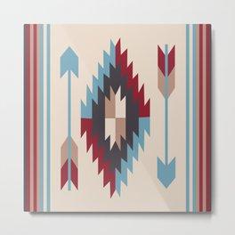 American Native Pattern No. 12 Metal Print