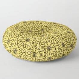 Primrose Yellow Lace Floor Pillow