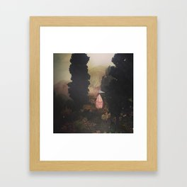Tiny circus in the woods Framed Art Print