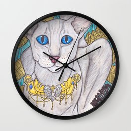 Oriental short hair cat Wall Clock