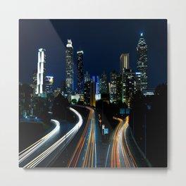Downtown Atlanta At Night Metal Print