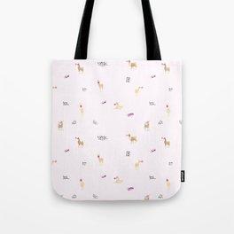 Llama Bubbles Tote Bag