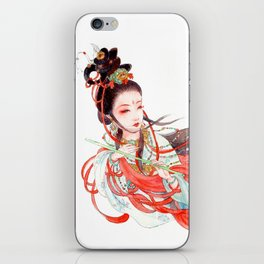 Watercolor Chinese Beauty -  Feitian iPhone Skin