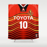 2001 Shower Curtains featuring Nagoya 2001 by Thomas Fiers