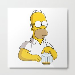 the simpson coffe Metal Print