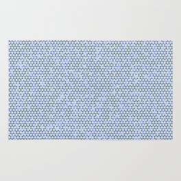 Blue Triangles Rug
