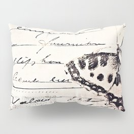 postal butterfly {b&w Pillow Sham