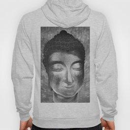Silver buddha head by Brian Vegas Hoody