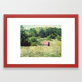 Red Roof Barn Framed Art Print