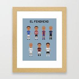"""Ronaldo """"El Fenomeno"""" Framed Art Print"""