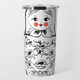 Matryoshka Doll Illustration Travel Mug