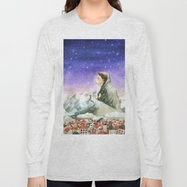 A Girl Reading Long Sleeve T-shirt