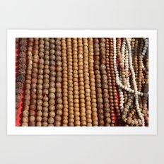 Mala Beads Art Print