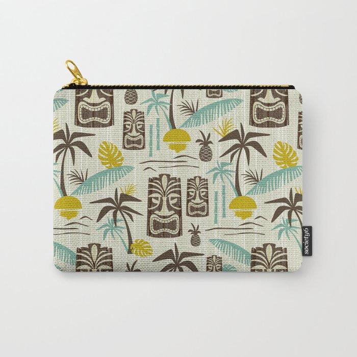Island Tiki - Tan Carry-All Pouch