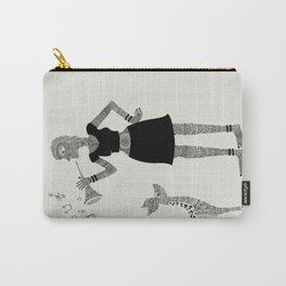 Patterned girl Carry-All Pouch