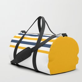 Yellow - blue - white stripes Duffle Bag