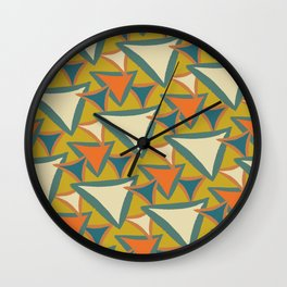 Decades Young 70's Living Room Triangles Wall Clock