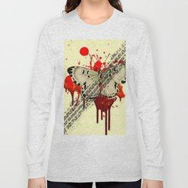 SURREAL BLEEDING VAMPIRE BUTTERFLY ROADKILL Long Sleeve T-shirt
