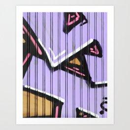 Street Art - Violet Urban Collection Art Print