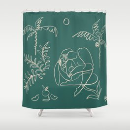Dreamers no.1 (emerald) Shower Curtain