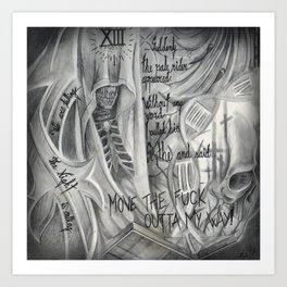 Necromancer's assasin Art Print
