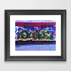 QUONE Train Piece Framed Art Print