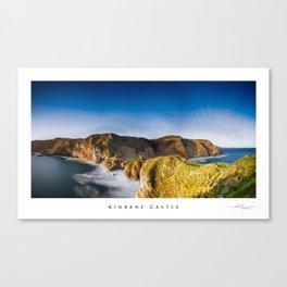 Kinebane castle,Ireland,Northern Ireland,Antrim coast Canvas Print