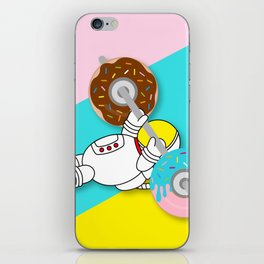 Astro Donut Dumbbell   Astronaut   Cosmonaut   pulps of wood iPhone Skin