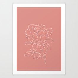 Rose illustration - Cara Art Print